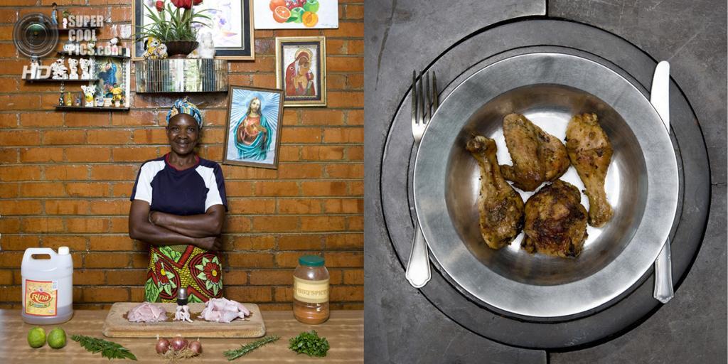 Замбия. Калулуши. Блюдо: Жареная курица со специями. (Gabriele Galimberti)
