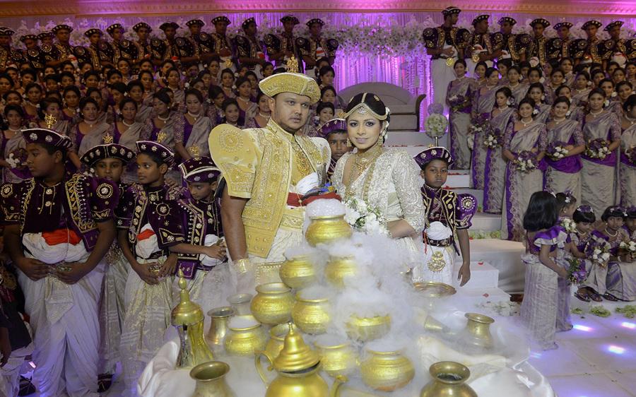 Шри-ланкийская свадьба-рекордсмен (6 фото)