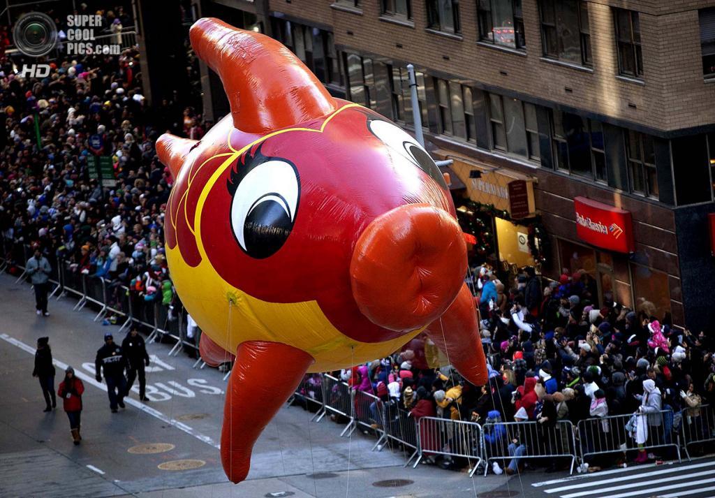 США. Нью-Йорк. 28 ноября. Во время парада в честь Дня благодарения. (REUTERS/Carlo Allegri)