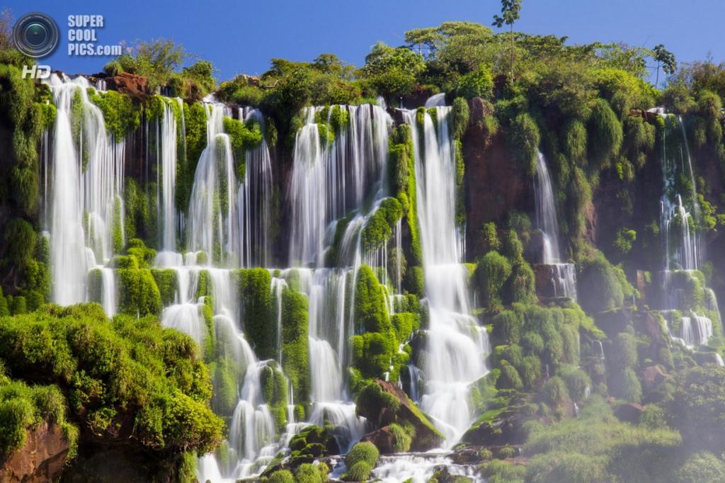 Граница Бразилии и Аргентины. Водопады Игуасу. (Od)