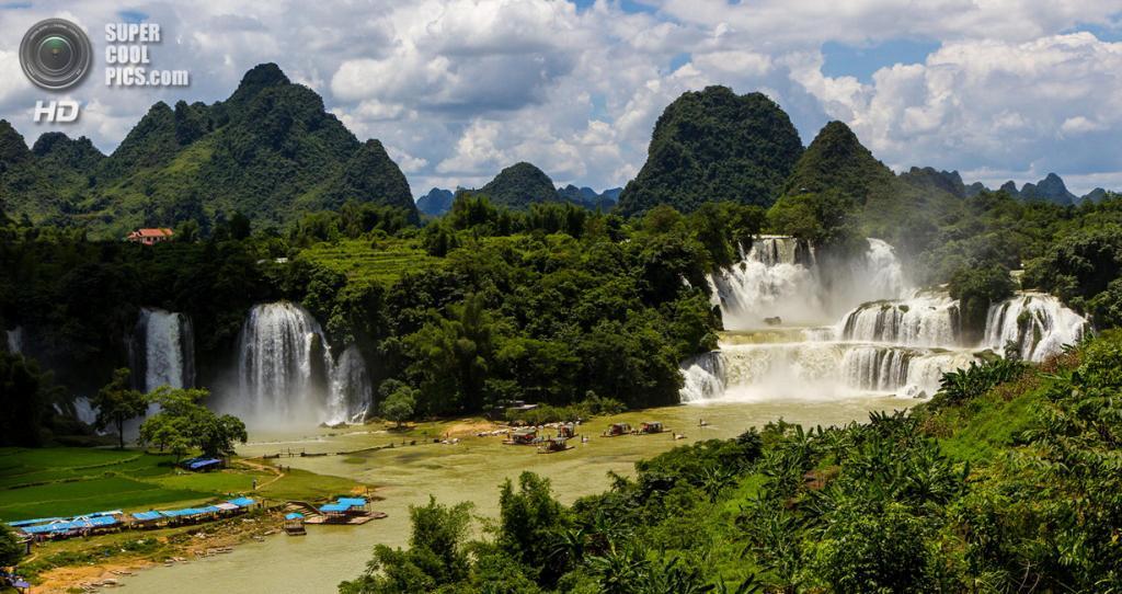 Китайско-вьетнамская граница. Водопад Дэтянь. (Martin Pilát)