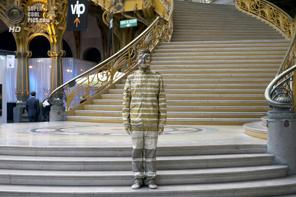 Франция. Париж. 1 апреля 2011 года. Лю Болинь на фоне лестницы Большого дворца. (BERTRAND LANGLOIS/AFP/Getty Images)