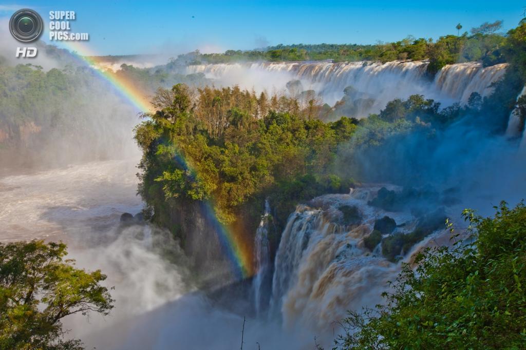 Граница Бразилии и Аргентины. Водопады Игуасу. (Sura Ark)