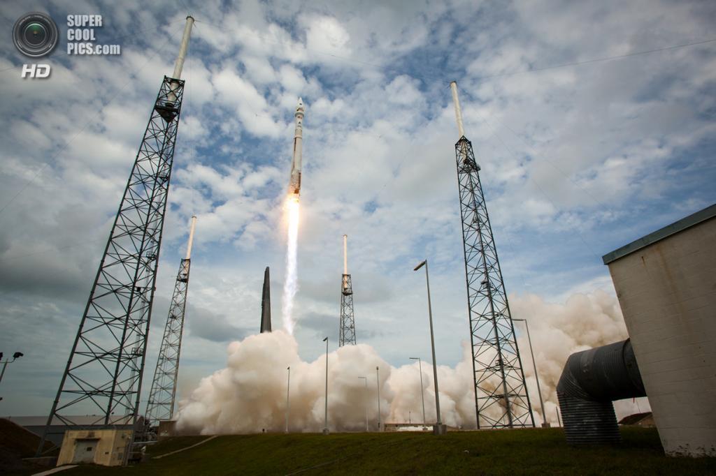 США. Канаверал, Флорида. 18 ноября. Запуск ракеты-носителя «Атлас V» с космическим аппаратом MAVEN. (NASA/Bill Ingalls)