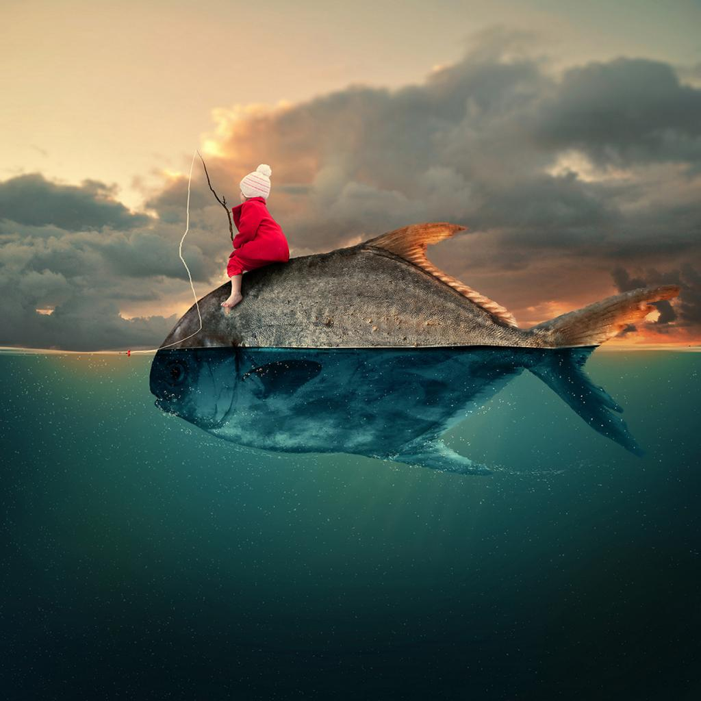"""""""Water world"""". (Photo illustration by Caras Ionut)"""