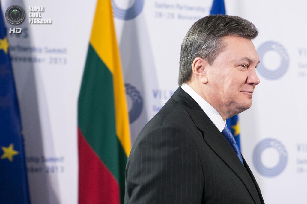Литва. Вильнюс. 29 ноября. Президент Украины Виктор Янукович во время саммита «Восточного партнерства». (REUTERS/eu2013.lt)