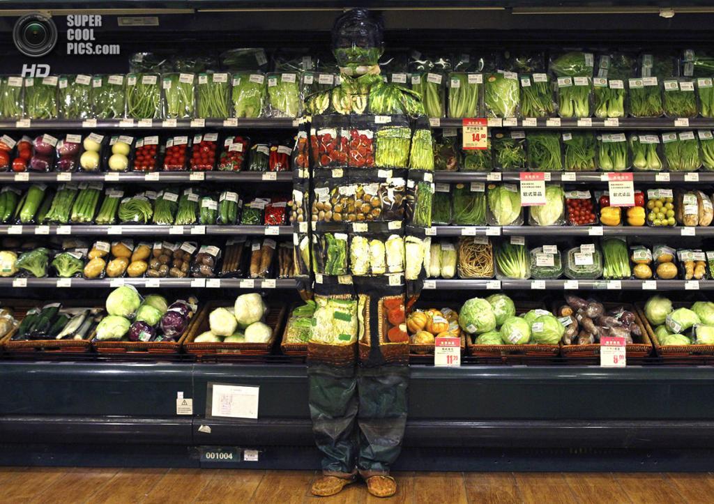 Китай. Пекин. 10 ноября 2011 года. Готовый результат — работа под названием «Овощной отдел». (REUTERS/China Daily)