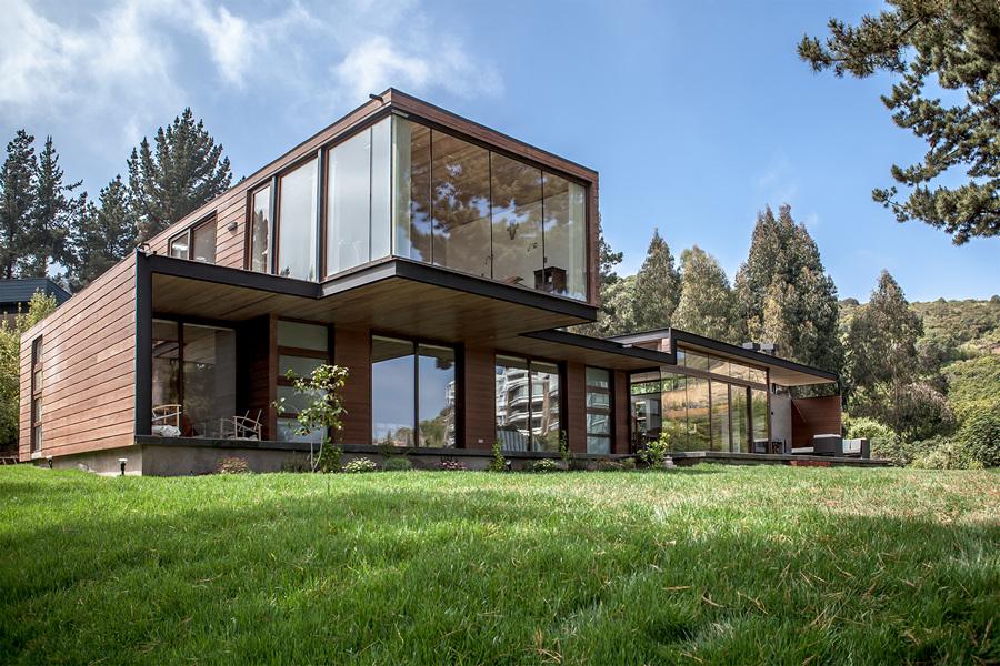 Чилийский домик с панорамным видом из окон (12 фото)