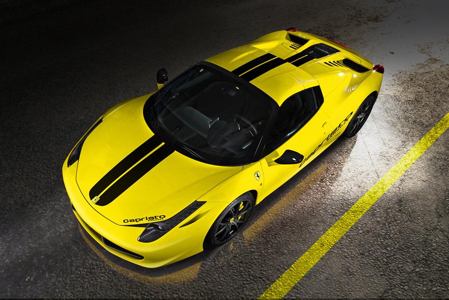 Красуясь двигателем: Ferrari от Capristo (6 фото)