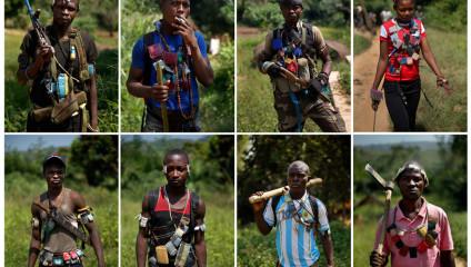 Центральноафриканские христиане-боевики (16 фото)