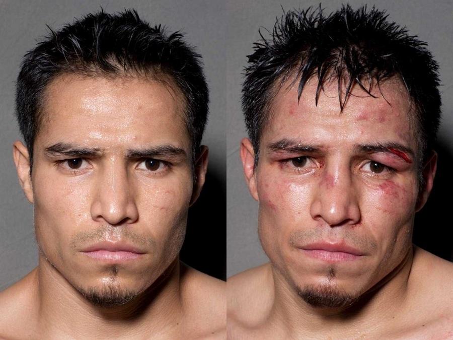 Боксёры: До и после боя (22 фото)