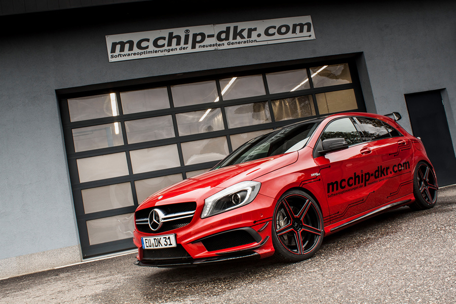 Mercedes-Benz A 45 AMG получил «прокачку» от Mcchip-DKR (9 фото)
