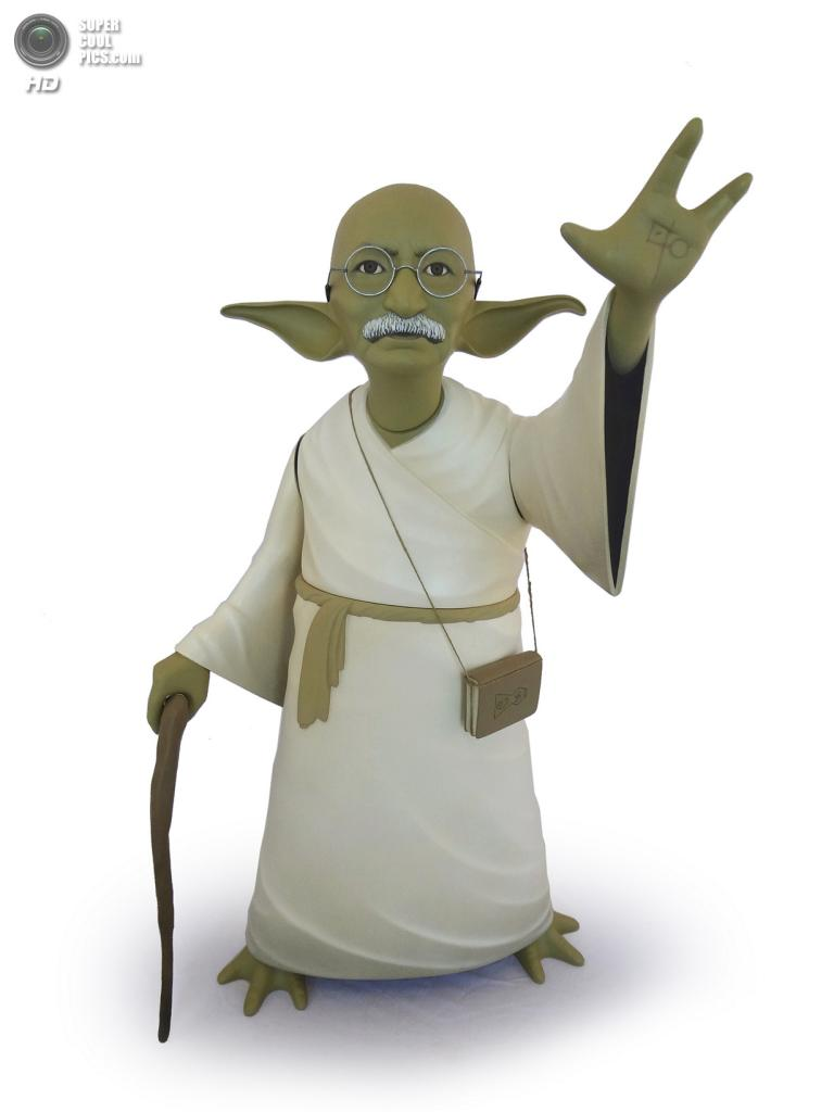 Махатма Ганди в роли Йоды. (Mike Leavitt/Rex USA)