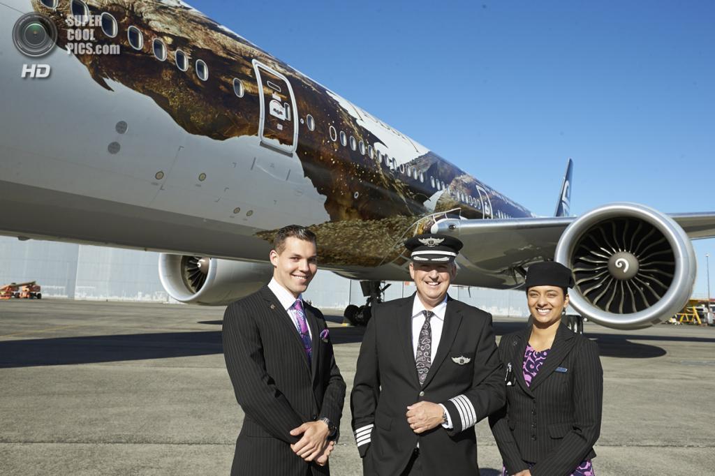 Новая Зеландия. Окленд. 2 декабря. Промоакция к фильму «Хоббит: Пустошь Смауга». (AP Photo/Air New Zealand)