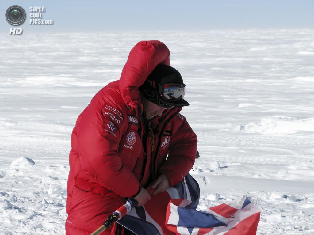 Антарктида. 1 декабря. Принц Гарри во время антарктической экспедиции. (REUTERS/Victoria Nicholson/Walking With the Wounded)