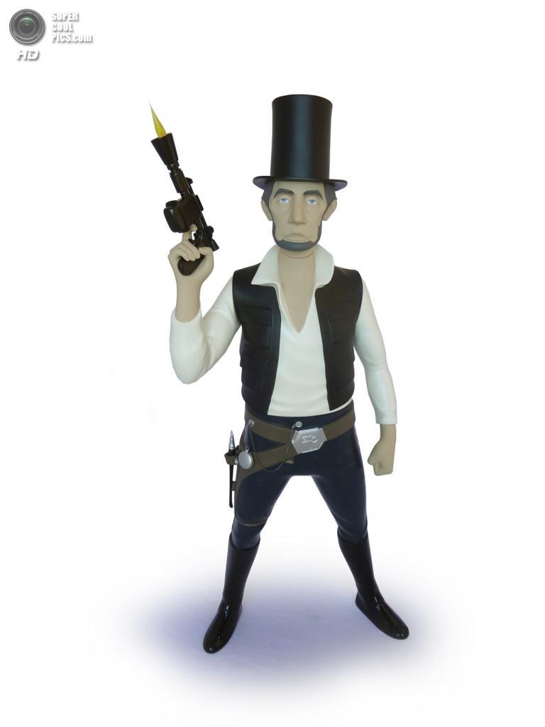 Авраам Линкольн в роли Хана Соло. (Mike Leavitt/Rex USA)