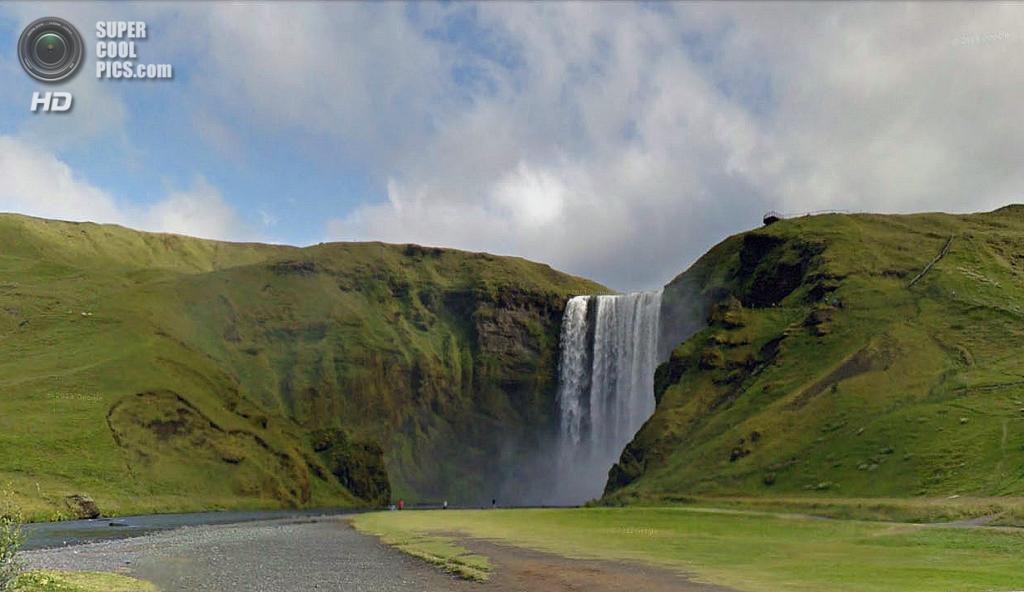 Исландия. Скоугар. Водопад Скоугафосс. (Google)