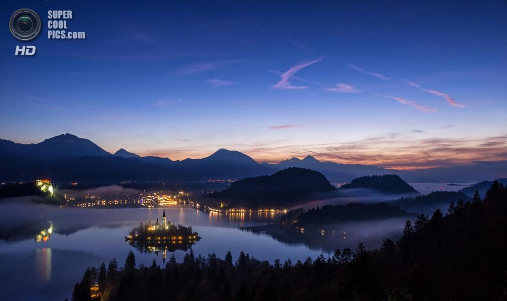 Словения. Крайна. Бледское озеро. (Alex Pallavisini)