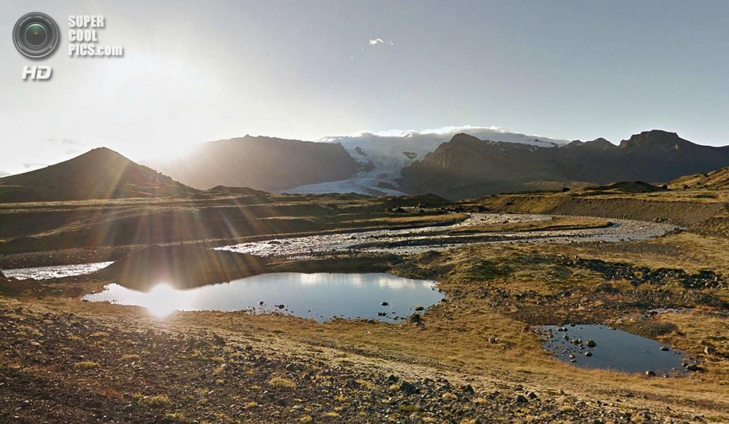Исландия. Ледник на юге. (Google)