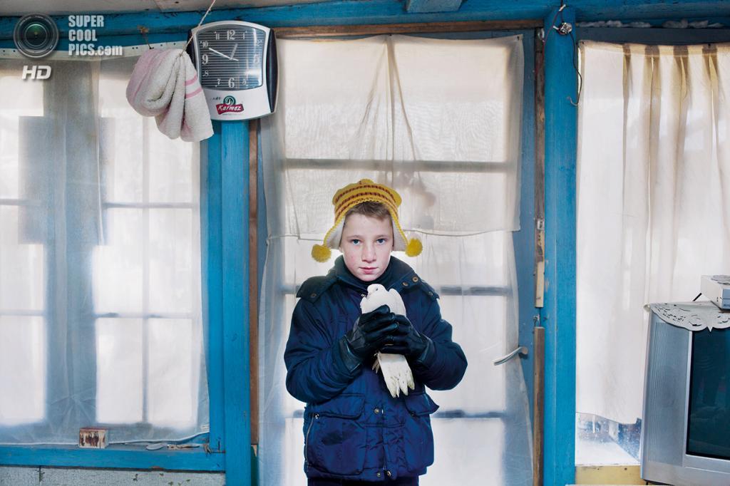 «Поощрительный приз». Снимок из серии «Фрумоаса», что по-румынски означает «красота», о мальчике Лаурентиу и его семье, живущей в трущобах близ железнодорожной станции «Гент-Дампорт». Место съемки: Бельгия. Гент, Восточная Фландрия. (Aurélie Geurts/National Geographic Photo Contest)
