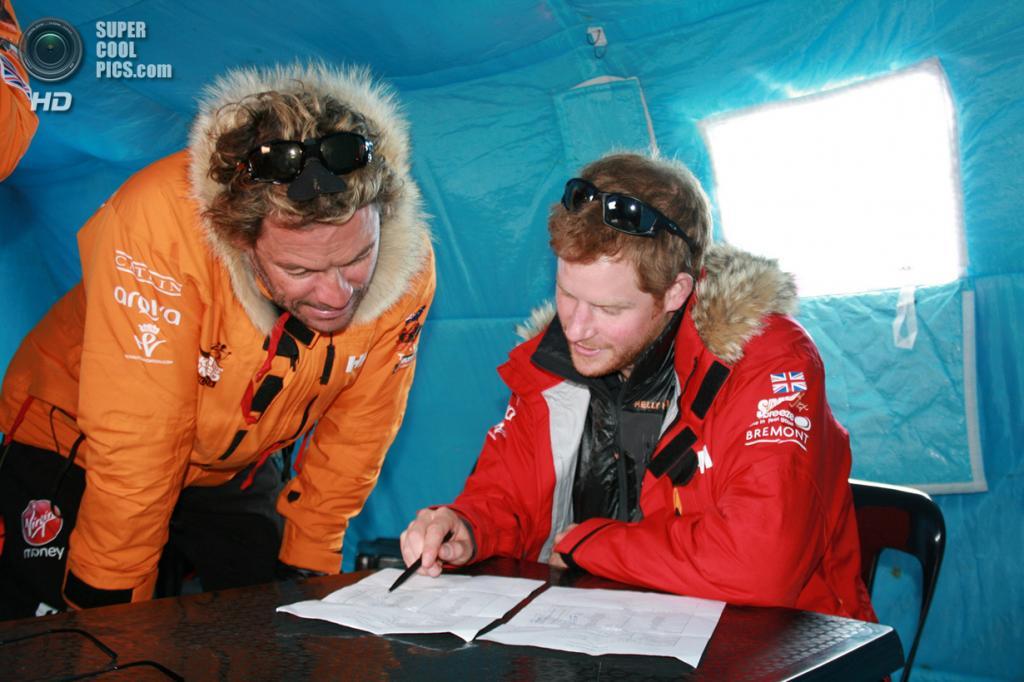 Антарктида. 23 ноября. Принц Гарри во время антарктической экспедиции. (WWTW via Getty Images)
