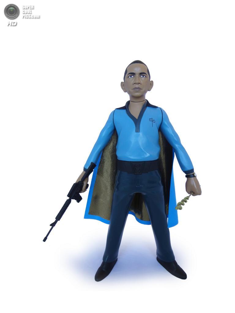 Барак Обама в роли Лэндо Калриссиана. (Mike Leavitt/Rex USA)