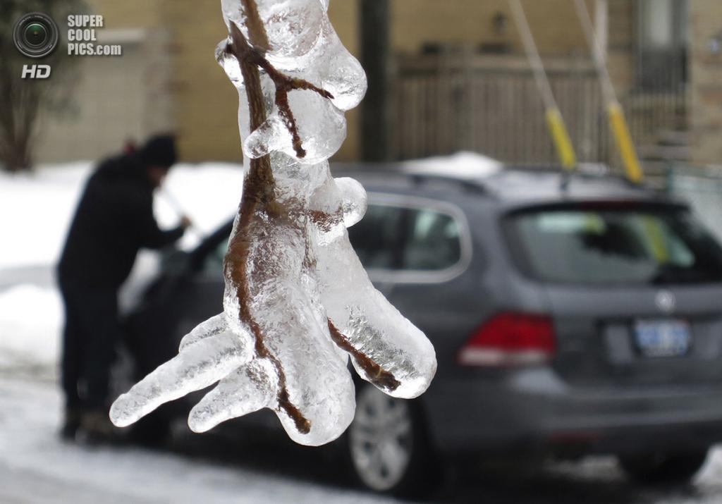 Канада. Торонто, Онтарио. 22 декабря. После снежной бури (звуки чистки автомобиля от снега на фоне). (REUTERS/Gary Hershorn)