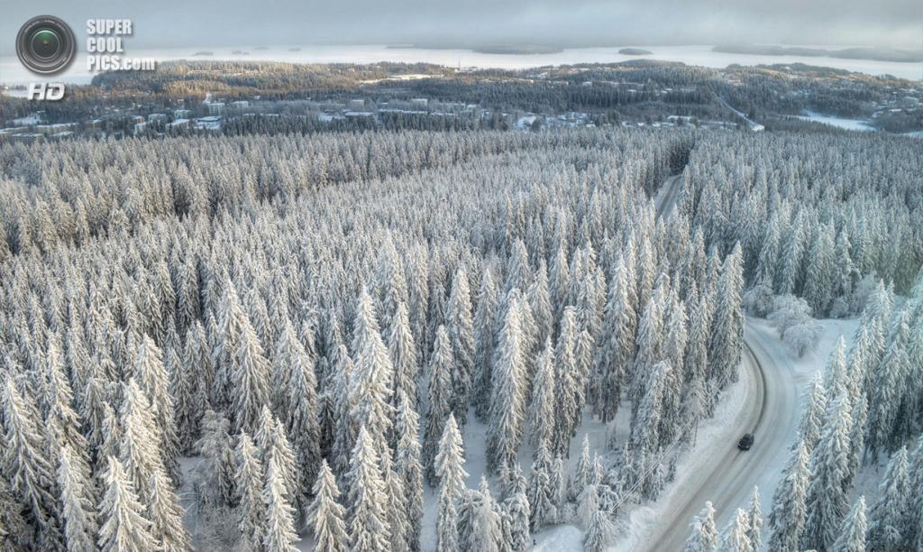 Зимний пейзаж teemu kalliolahti