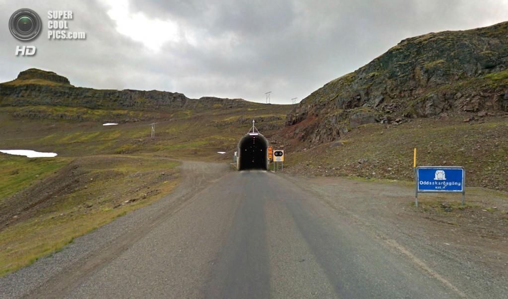 Исландия. Ещё один тоннель. (Google)