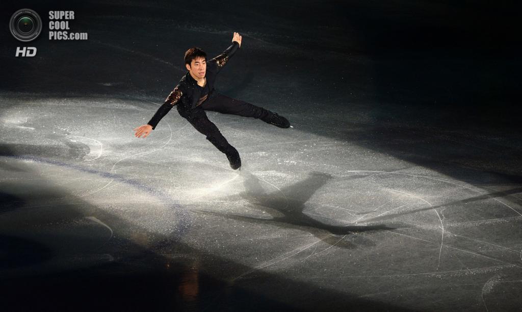 Япония. Фукуока. 8 декабря. Нобунари Ода из Японии в Финале Гран-при по фигурному катанию. (TORU YAMANAKA/AFP/Getty Images)