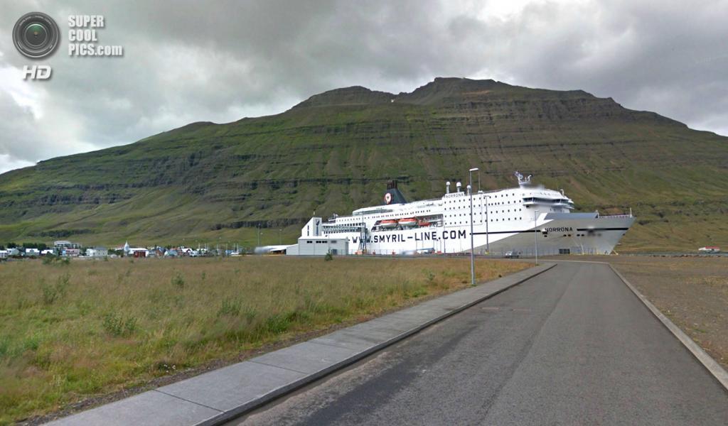 Исландия. Сейдисфьордюр. Паром Smyril Line. (Google)