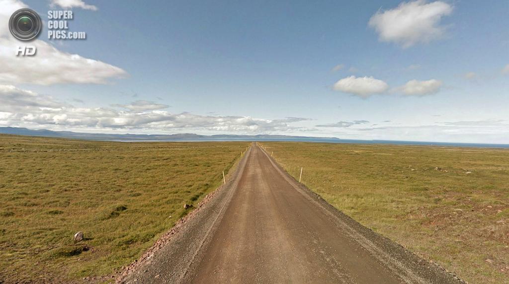 Исландия. Пустая дорога 85. (Google)