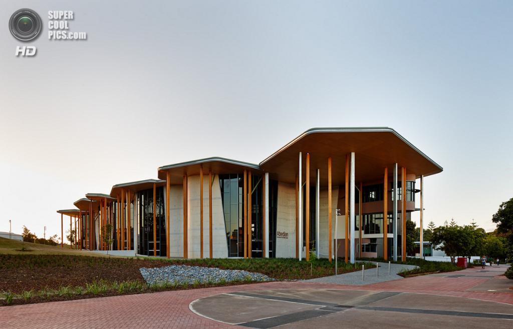 Австралия. Робина, Квинсленд. Школа архитектуры Абедиан при Университете Бонд, спроектированная CRAB Studio. (Peter Bennetts)