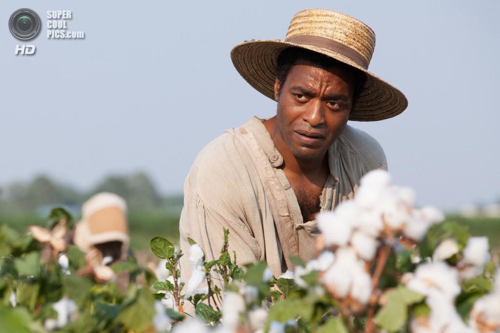 Номинант на премию «Лучшая мужская роль» Чиветел Эджиофор. Британский актёр, сыгравший Соломона Нортапа в фильме «12 лет рабства». (Кадр из фильма)