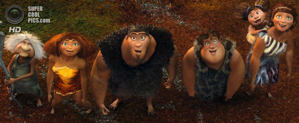 Номинант на премию «Лучший анимационный полнометражный фильм» «Семейка Крудс» студии DreamWorks Animation. (Кадр из мультфильма)