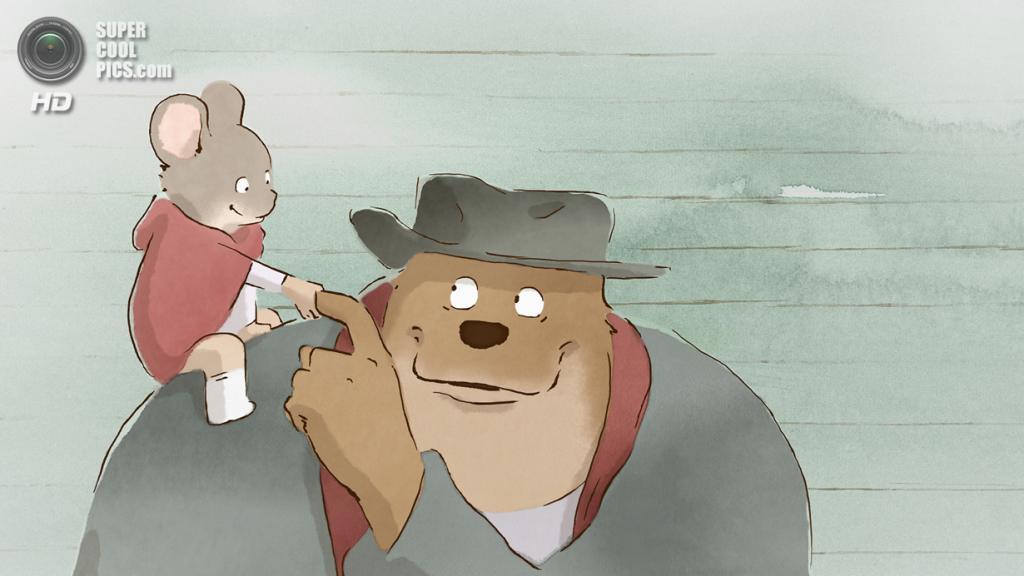 Номинант на премию «Лучший анимационный полнометражный фильм» «Эрнест и Селестина» студий La Parti Productions, Les Armateurs, Maybe Movies. (Кадр из мультфильма)