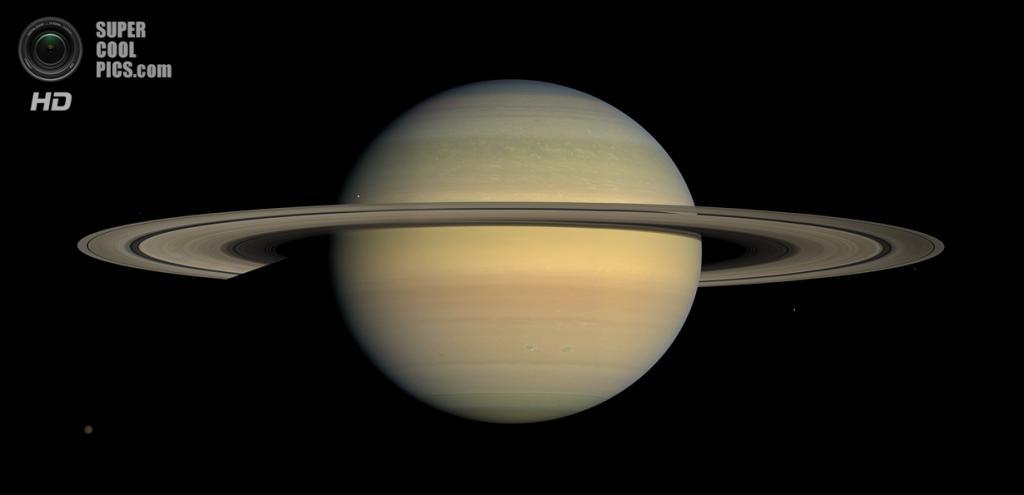 Сатурн и его кольца. (NASA/JPL-Caltech/SSI)