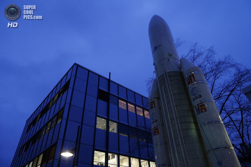 Германия. Дармштадт, Гессен. 20 января. Европейский центр управления космическими полётами. (REUTERS/Ralph Orlowski)