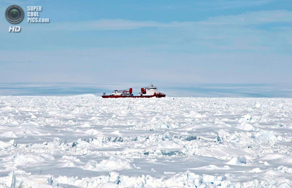 Антарктида. Ледокол Xue Long. (REUTERS/Fairfax/Australian Antarctic Division)