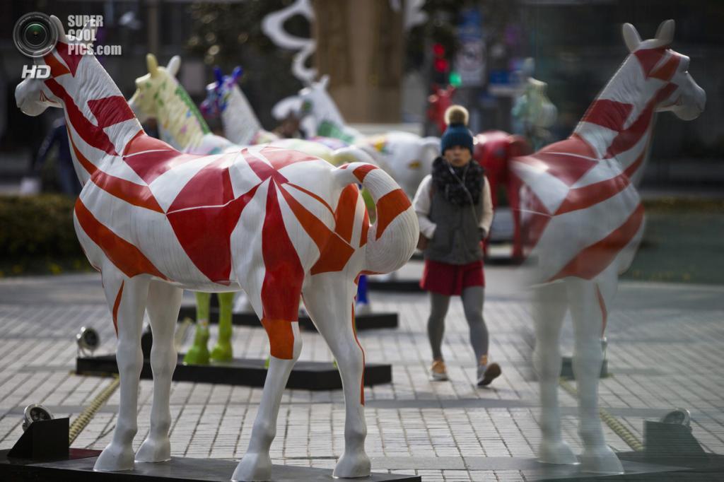Китай. Шанхай. 9 января. В преддверии Китайского Нового года. (REUTERS/Aly Song)