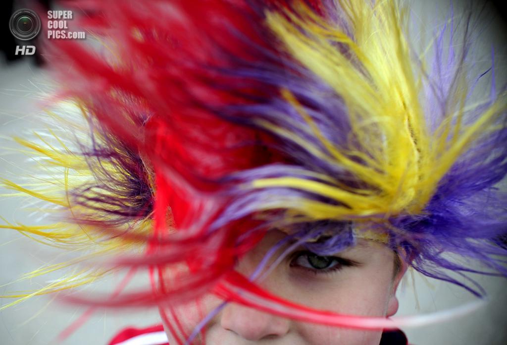 Македония. Вевчани, Юго-Западный регион. 13 января 2010 года. Во время карнавала в честь начала нового года по Юлианскому календарю. (REUTERS/Ognen Teofilovski)