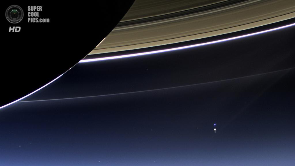 Снимок Земли, сделанный «Кассини» с орбиты Сатурна. (NASA/JPL-Caltech/SSI)