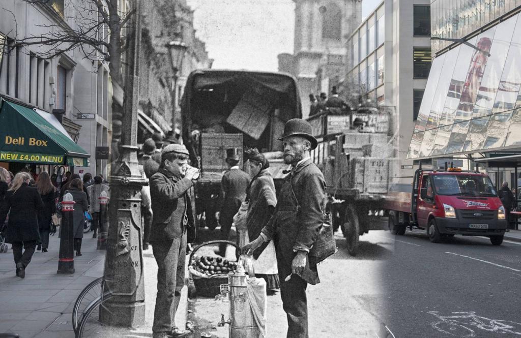 Лондон: Тогда и сейчас (16 фото)