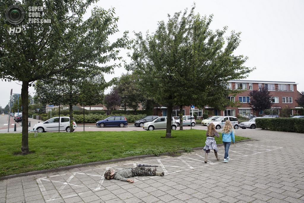 Нидерланды. Хук-ван-Холланд, Роттердам, Южная Голландия. 8 декабря 2013 года. Меткий выстрел. (Peter de Krom)