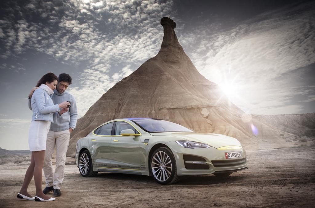 Rinspeed XchangE: Швейцарский шоукар на базе Tesla (25 фото + HD-видео)