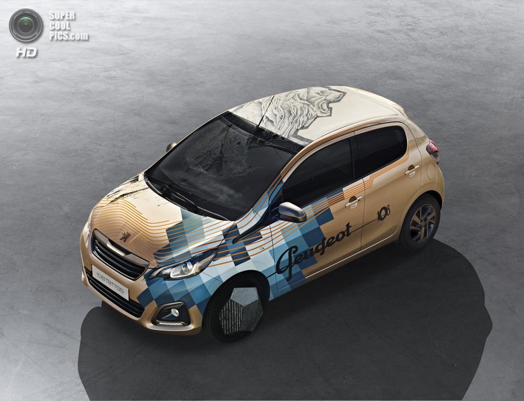 Peugeot 108 Tattoo Concept. (PSA Peugeot Citroën)
