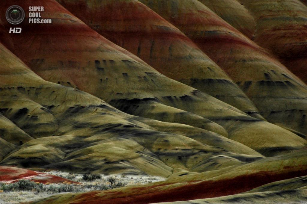 США. Орегон. «Пейнтед-Хиллс» в Государственном заповеднике John Day Fossil Beds. (betsy norris)