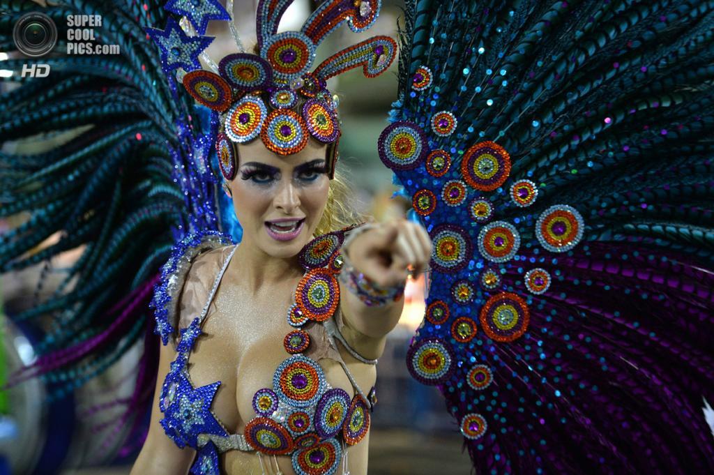 Бразилия. Рио-де-Жанейро. Во время карнавала. (Yasuyoshi Chiba/AFP/Getty Images)