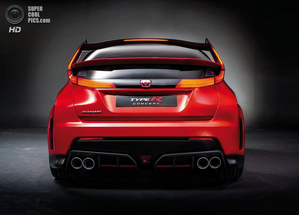 Honda Civic Type R Concept. (Honda Motor Co.)