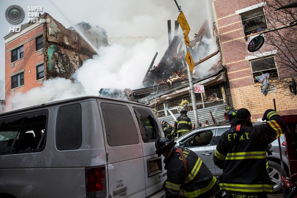 США. Нью-Йорк. 12 марта. На месте происшествия. (Andrew Burton/Getty Images)